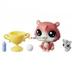 LPS Littlest Pet Shop 2 - 102 křeček a 2 - 103 myš