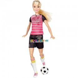 Barbie Sportovkyně fotbalistka blondýnka
