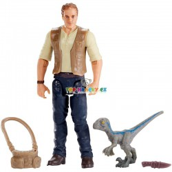 Jurský svět  základní figurka Owen a dinosaurus