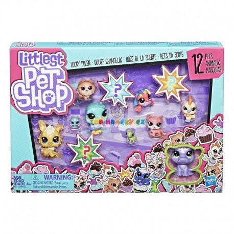 LPS Littlest Pet Shop Velké balení 12 zvířátek s hrochem