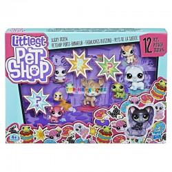 LPS Littlest Pet Shop Velké balení 12 zvířátek s kočkou