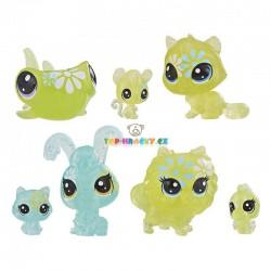 LPS Littlest Pet Shop Květinová zvířátka sedmikráska 7 ks s kočkou