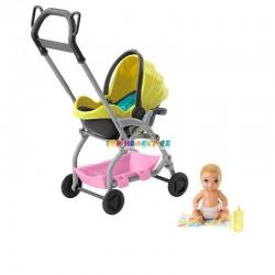Barbie Příběh z deníku chůvy žlutý kočárek a miminko