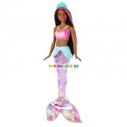 Barbie Svítící mořská panna černoška s pohyblivým ocasem