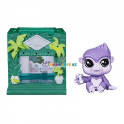 LPS Littlest Pet Shop 3821 gorila s mini domečkem