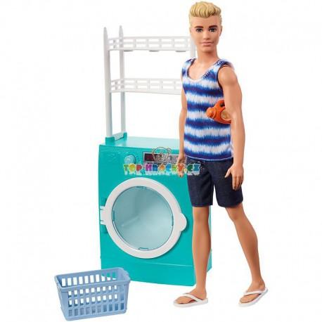 Barbie Ken set prádelna