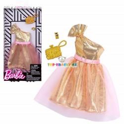 Barbie zlaté šaty s doplňky