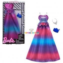 Barbie společenské lesklé šaty s doplňky