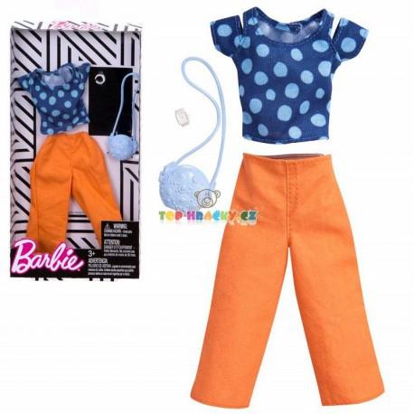 Barbie modrý top a kalhoty s doplňky