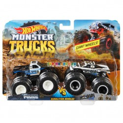 Hot Wheels Monster Truck demoliční duo Police a Hooligan