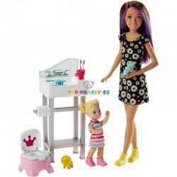 Barbie Chůva herní set koupelna