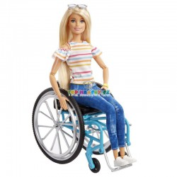 Barbie Panenka na vozíčku blondýna