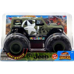 Hot Wheels Monster Truck velký Army Jeep