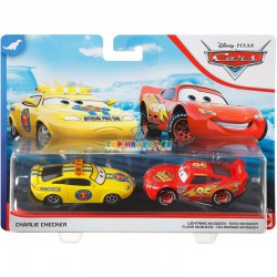 Disney Pixar Cars Charlie Checker a Lightning McQueen
