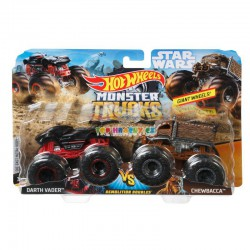 Hot Wheels Monster Truck demoliční duo Darth Vader a Chewbacca