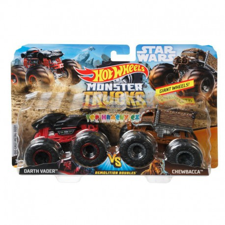 Hot Wheels Monster Truck demoliční duo Darth Vader a Chewbacca