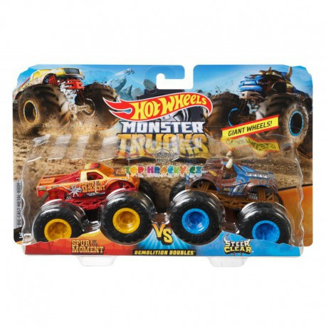 Hot Wheels Monster Trucks demoliční duo Spur Moment a Steer Clear