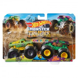 Hot Wheels Monster Trucks demoliční duo A51 Patrol a Test Subjekt