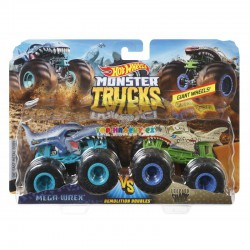Hot Wheels Monster Trucks demoliční duo Mega Wrex a Leopard Shark