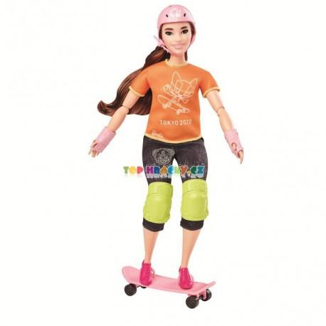 Barbie Olympionička skateboardistka Tokyo 2020