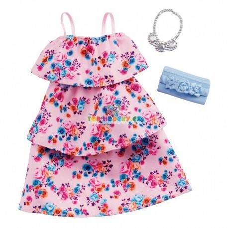 Barbie oblečky letní šaty s  kytičkami a doplňky