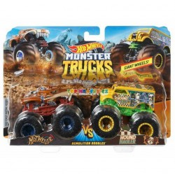 Hot Wheels Monster Trucks demoliční duo Hotweiler a Hound Hauler