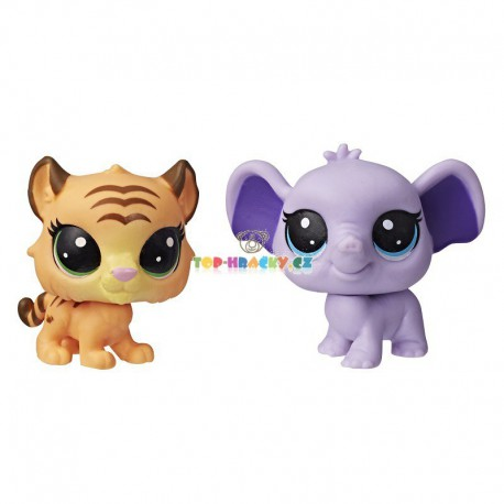 LPS Littlest Pet Shop 110 slon a 111 tygr