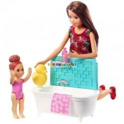 Barbie Chůva herní set čas na koupání
