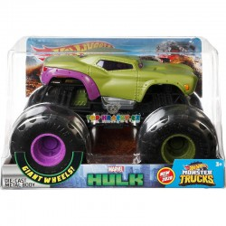 Hot Wheels Monster Truck velký Marvel Hulk