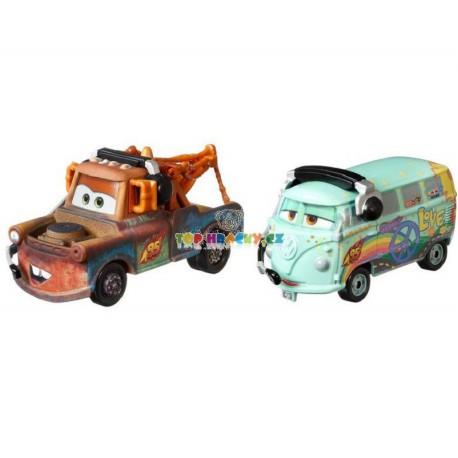 Disney Pixar Cars Burák a Fillmore se sluchátky