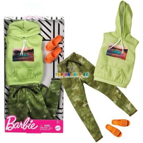 Barbie Kenovy oblečky vesta s kapucí a tepláky