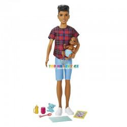 Barbie Chůva Ken a miminko s doplňky