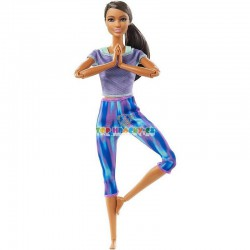 Barbie v pohybu černoška model 2021
