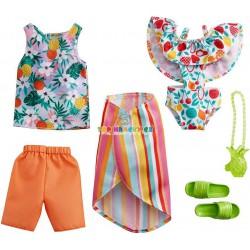Barbie fashoin 2ks Barbie/Ken oblečky plážové