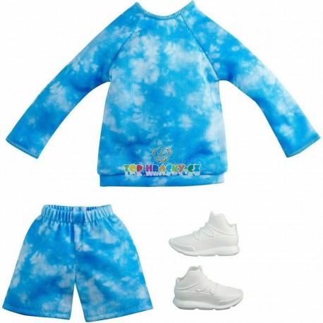 Kenovy oblečky modrá mikina s kraťasy