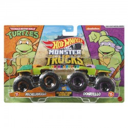 Hot Wheels Monster Trucks Michelangelo a Donatello demoliční duo
