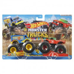 Hot Wheels Monster Trucks Monster Portions a Toung Ot Spiracha demoliční duo