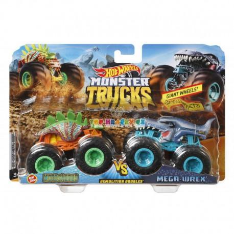 Hot Wheels Monster Trucks Monster Motosaurus a mega Wrex demoliční duo