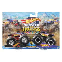 Hot Wheels Monster Trucks Monste Hot Wheels 4 a Hot Wheels Racing 1 demoliční duo