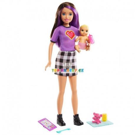 Barbie chůva skipper a miminko s doplňky