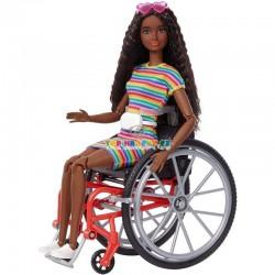 Barbie fashionistas modelka černoška 166 na invalidním vozíku