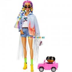 Barbie Extra s barevnými copy