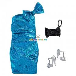 Barbie modré plesové šaty s doplňky
