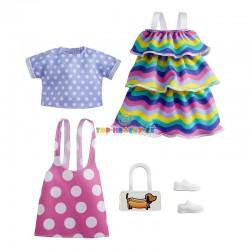 Barbie fashion oblečky s puntíky a šaty