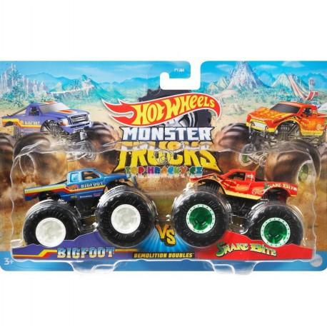 Hot Wheels Monster Trucks Bigfoot a Snake Bite Demoliční duo