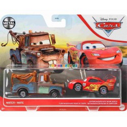Disney Pixar Cars Mater Burák a Blesk with Racing Wheels