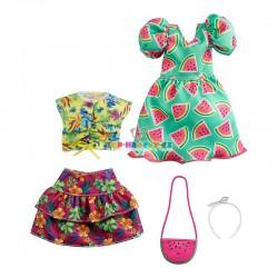 Barbie fashion oblečky melounové šaty a top
