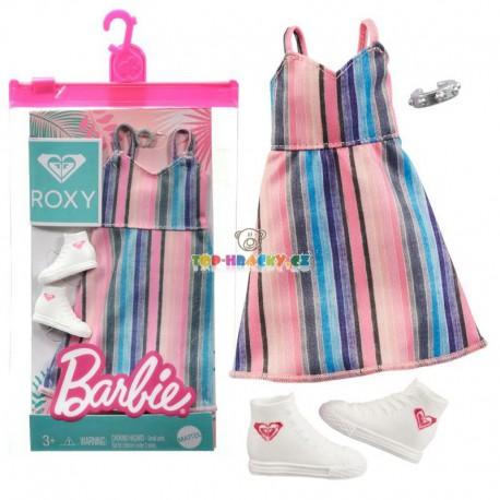 Barbie oblečky Roxy pruhované šaty