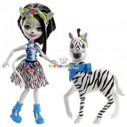 EnchanTimals panenka Zelena Zebrová a zebra