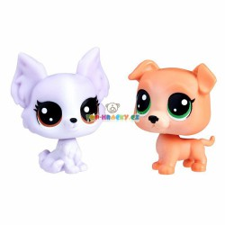 LPS Littlest Pet Shop 122 buldog a 123 čivava